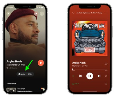 Move playlists from spotify