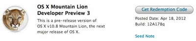 mountain lion dev 3