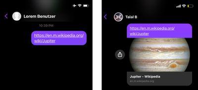 messenger link previews