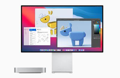 new mac mini prodisplay bigsur screen