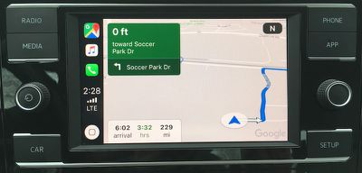 jetta carplay google maps