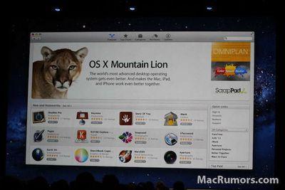 mountain lion mac app store wwdc