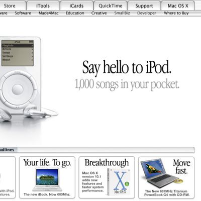 apple website ipod october 2001
