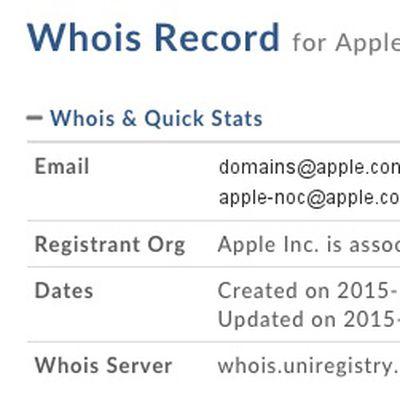 Apple car domain