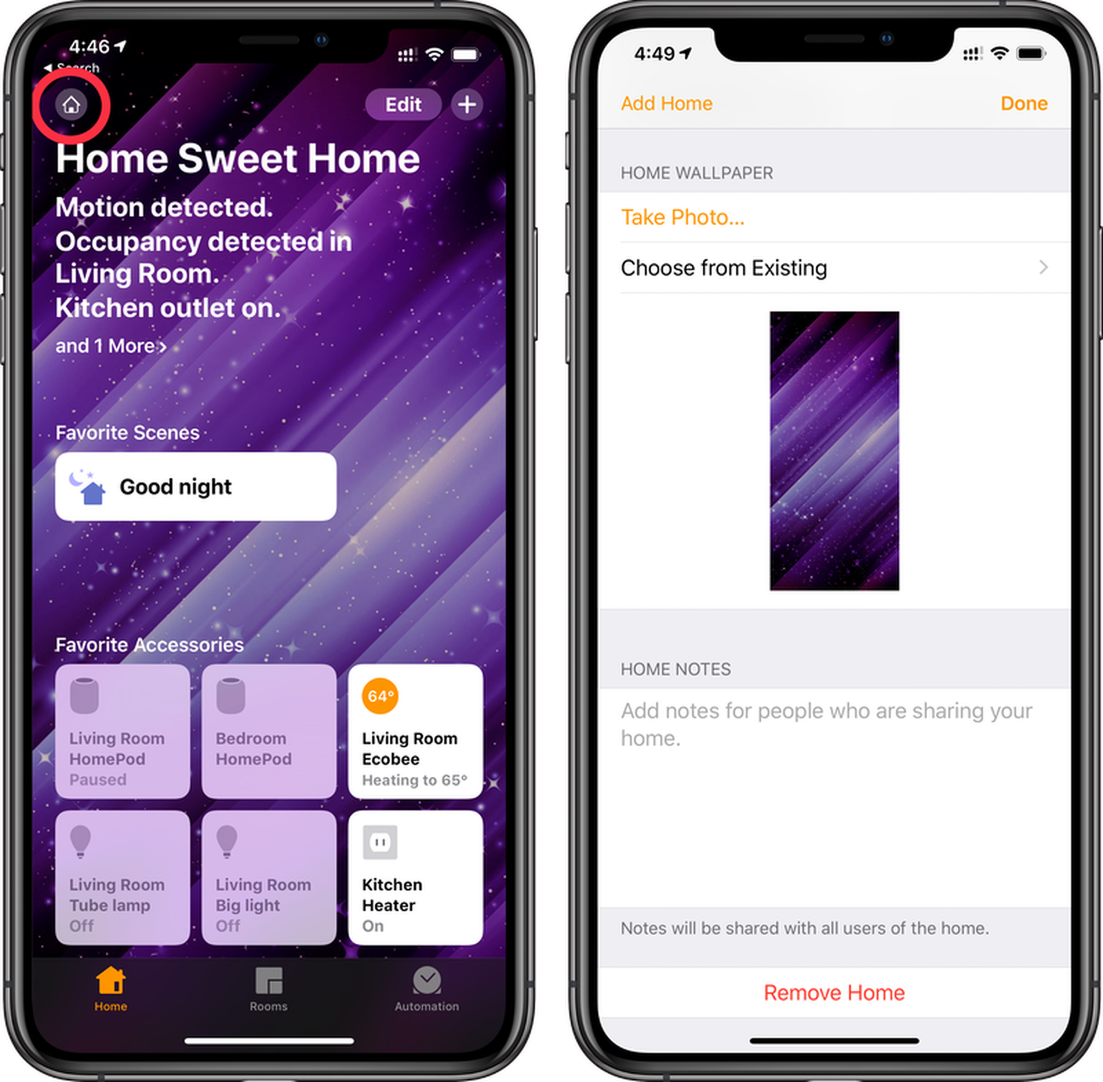 How To Change The Wallpaper In The Home App Macrumors
