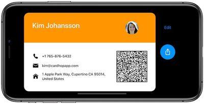 cardhop business card