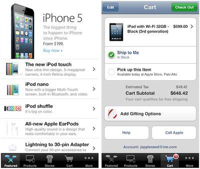 apple store app iphone 5