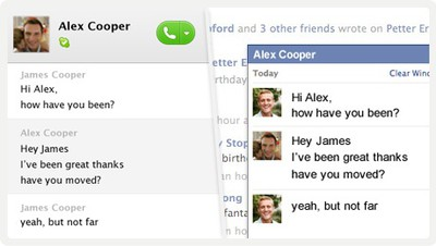 skype facebook chat