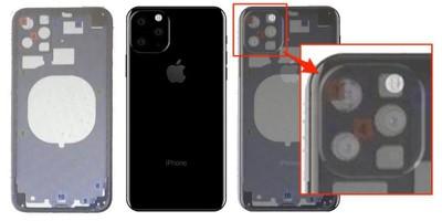 2019 iphone triple lens triangle onleaks