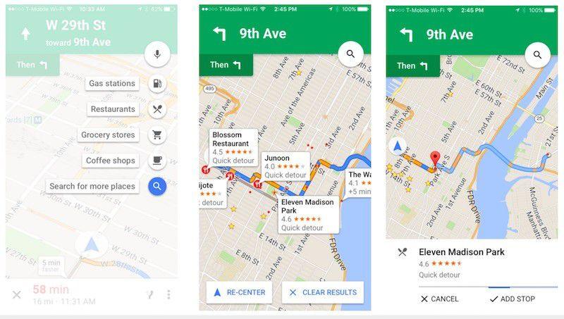 Google Maps pit stop