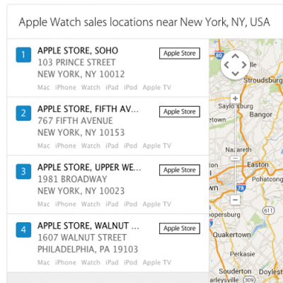 Apple Find Locations Watch Edition