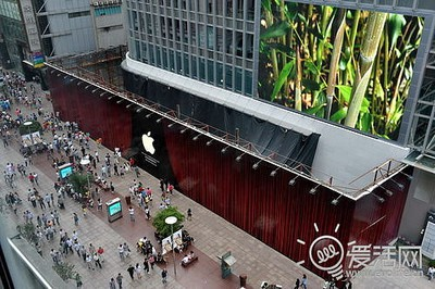 apple store nanjing east barrier