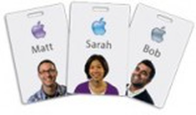 apple employee badges