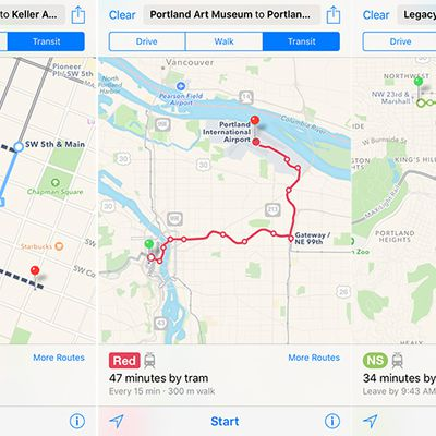 Portland Oregon Apple Maps Transit