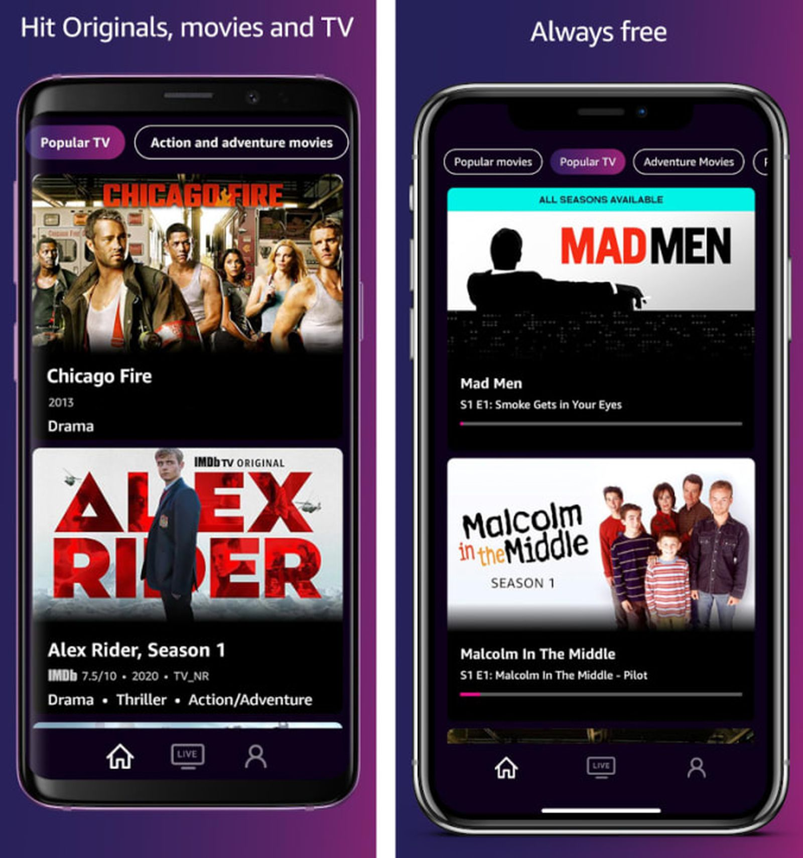 photo of Free, Ad-Supported IMDb TV Streaming Service Launches Standalone Mobile Apps image
