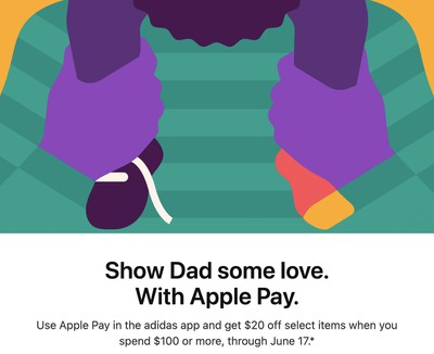apple pay fathers day promo