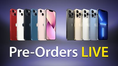 iPhone 13 and 13 Pro Pre Orders Live Feature