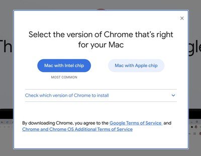 google chrome apple silicon macs