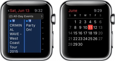 Apple Watch Calendar 1