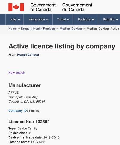health canada ecg license