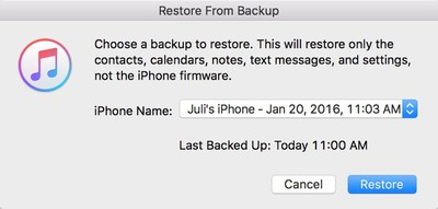 restorefrombackup