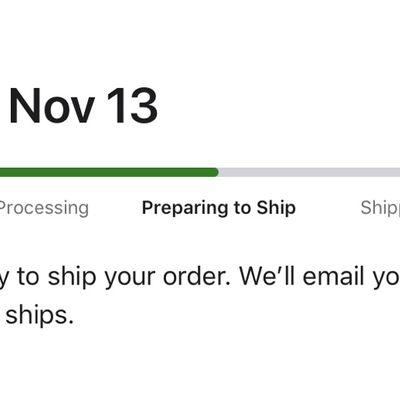 iphone 12 pro max preparing for shipment