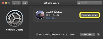 software update macos