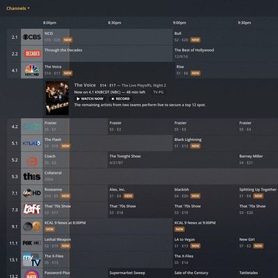 plex new guide on web