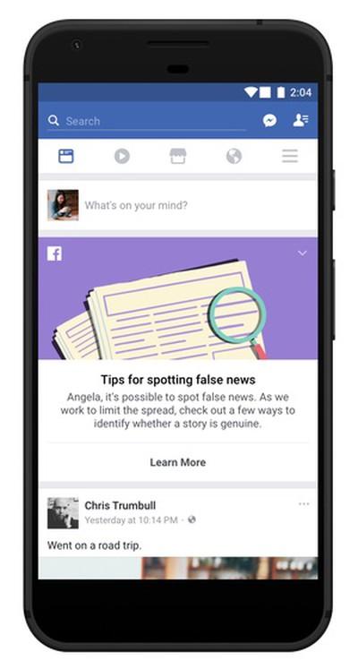 facebook news feed false news