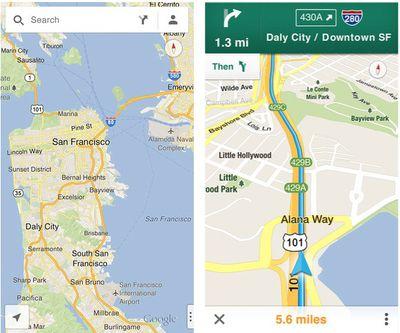 google maps screenshots
