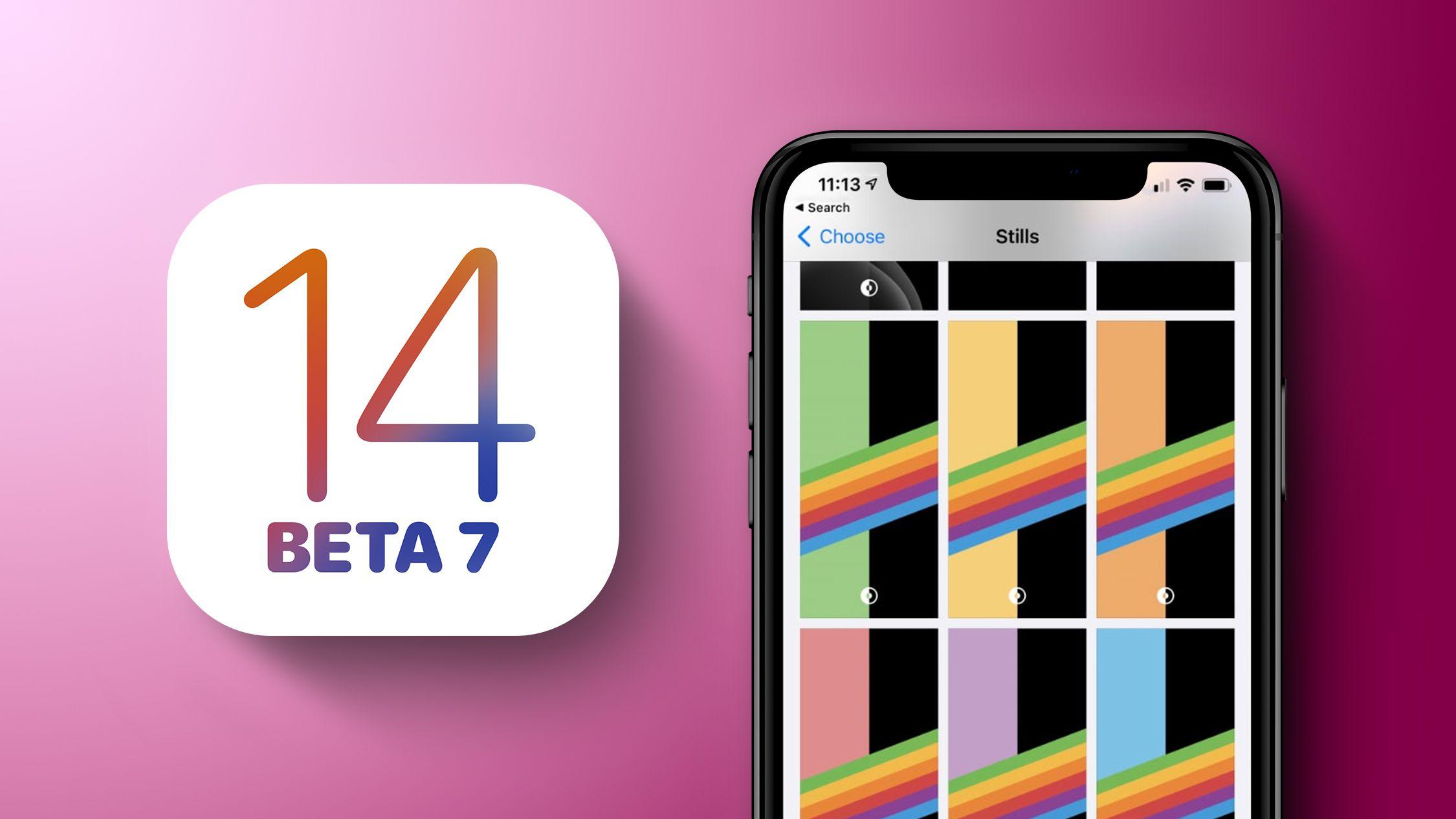 What S New In Ios 14 Beta 7 Dark Mode Rainbow Wallpapers App Library Tweaks Macrumors