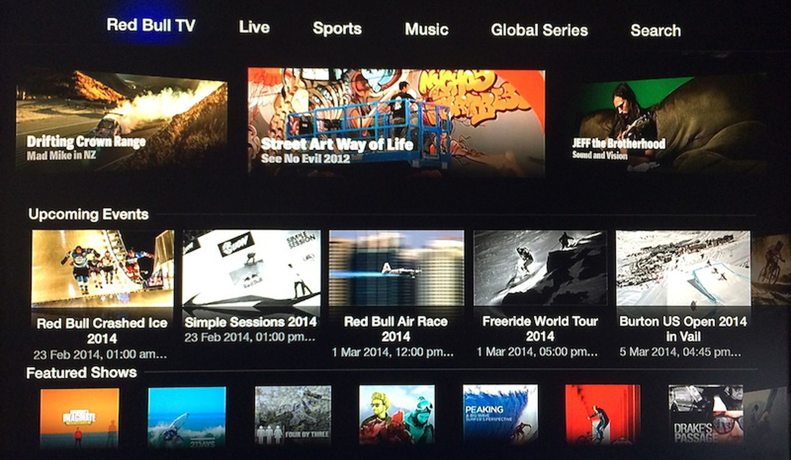 Apple Adds 'Red Bull TV' Action Sports Channel to Apple TV - MacRumors