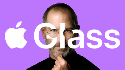 Apple Glass Steve Jobs