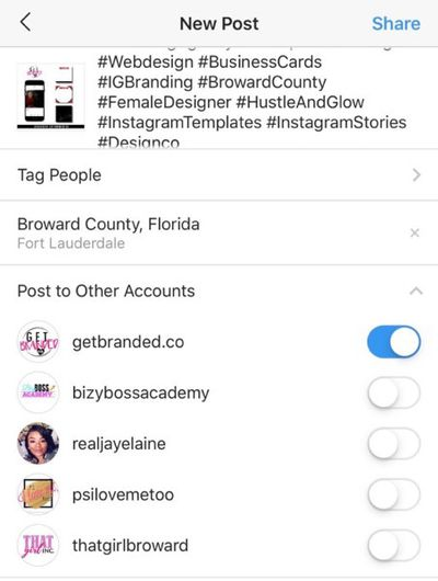 Instagram Post To Multiple Accounts