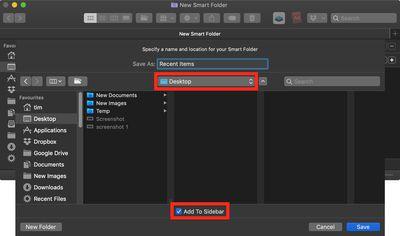 create a recent items folder 4