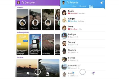 snapchat redesigned redesign