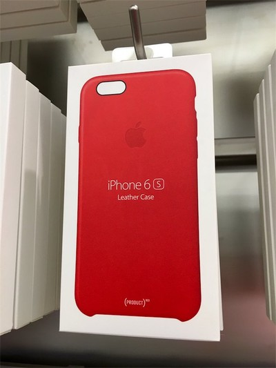 Apple Releases (PRODUCT)RED Leather Cases for iPhone 6s and 6s ...