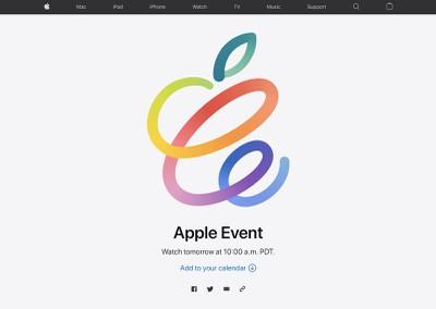 flujo de eventos de apple abril de 2021