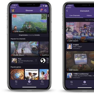 iphone x twitch app