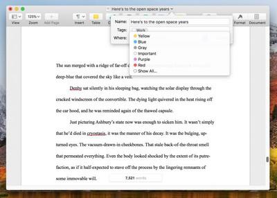 add tags in open files
