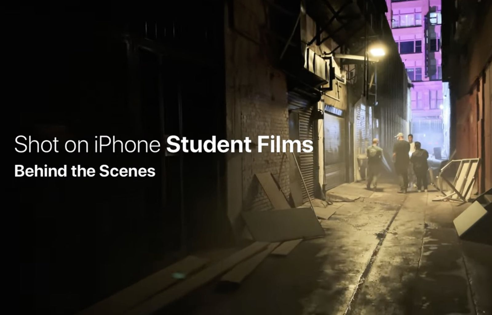 Apple Shares Behind the Scenes Look at Creating 'Shot on iPhone' Videos