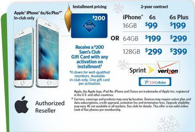 sam's iphone deal