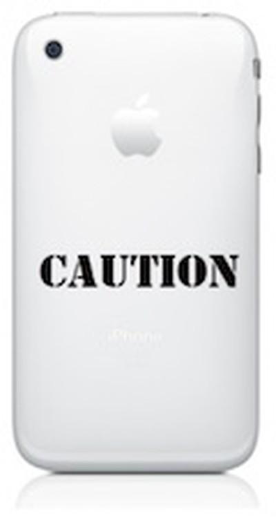 164135 iphone caution