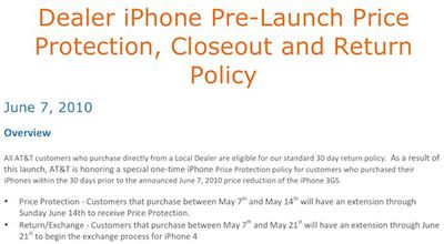 133436 att iphone 4 price protection