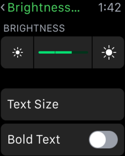 Brightness and Text