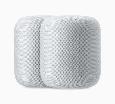 Apple HomePod pair white