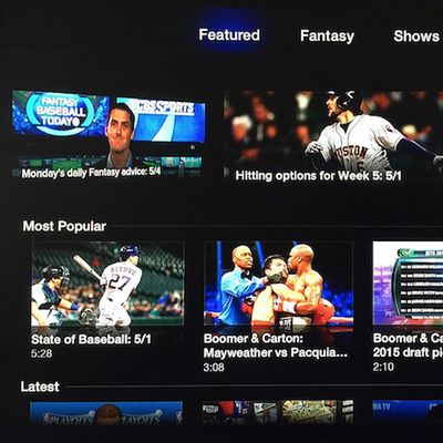 cbs sports apple tv