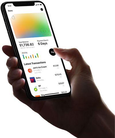 Apple Card in wallet app