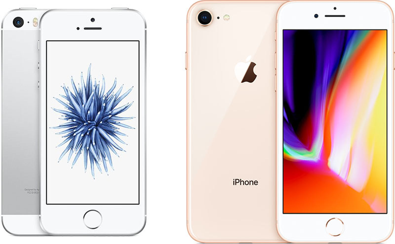 iphone se and iphone 8.'