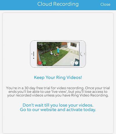 ring floodlight cam cloud recording